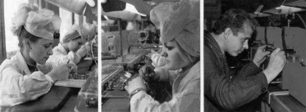 Процесс производства часов марки Луч, СССР, более 100 деталей